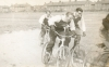 1955. Wally Bracey-Ron Gibbons-Johnny Berwick(all Tottenham) on the Dagenham Aces track.