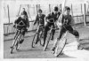 Hendon Aces at White City Racers. Riders L/R Elfryn Forbes - Unknown - Arthur Cowdrey - Dave Digby.
