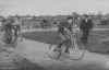 1953. Vampires v Claydon at the Ipswich Airport track. Leading is Charlie Webb(Claydon), 2nd placed is Don Corcoran, & obscured is 'Winkle' Westley(both Vampires). The other rider not known. In the suite is Mr Booth, manager of the Vampires.