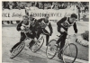 1962 John Cobbin leads on his way to winning the BCSF National Championship at Garratt Park. Ted Cracknell(South London) & Alan Raynor(Thurrock). On the outside is reigning Champion Roy Baker(South London).
