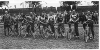 1952 The Swans at the Walthamstow Track for a National Team Championship match against Gem Pirates.