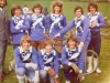 1974 Bombers Senior Team. Back row L/R Gordon Levett(Manager) - Ray Smith -Colin Watson - Rob Smith - Mike Hart - Dave Hunting. Kneeling L-R Guy Vincent - Kenny Jessup - Dick Smith. Photo taken at Somersham.