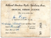 Official Racing Licence 1950s.